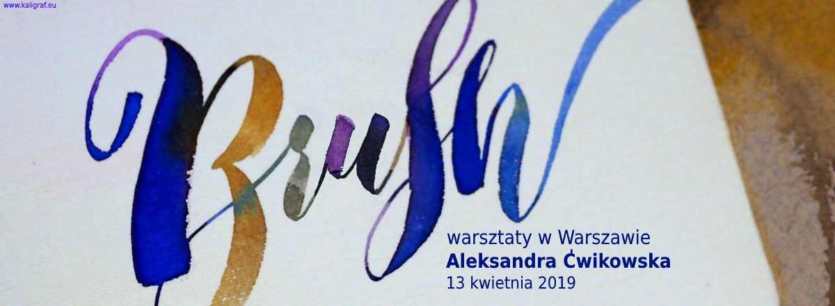 Warsztaty z brush letteringu w Warszawie prowadzone przez Aleksandrę Ćwikowską vel Nibme